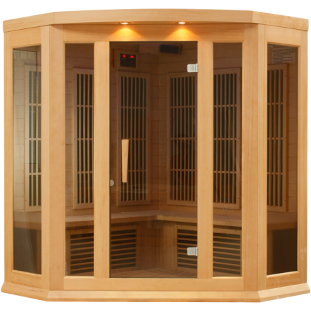 Golden Designs 3 Person Hemlock Maxxus LEMF FAR Infrared Sauna MX-K356-01 - BathVault