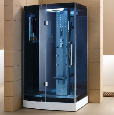"Mesa WS-300A Steam Shower 47""W x 35""D x 85""H - Blue Glass - BathVault"