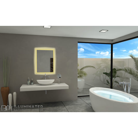 IBMirror Illuminated Vanity Mirror - Paris Rectangle 110V - BathVault