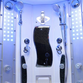 Mesa 608p Steam Shower 63 X 63 X 85 Blue Glass Bathvault