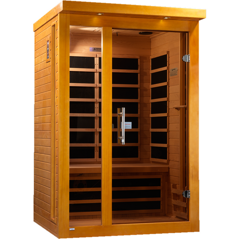 Golden Designs 2 Person Dynamic Infrared Sauna Vittoria Edition DYN-6220-01 - BathVault