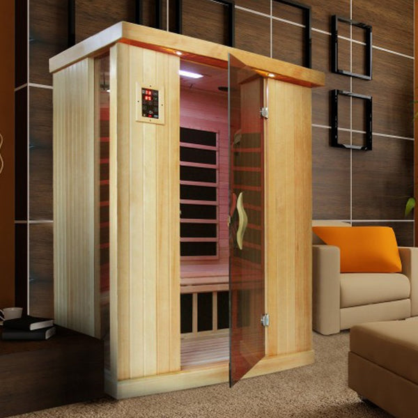 Golden Designs 2 Person Near Zero EMF Far IR Sauna GDI-6254-01 - BathVault