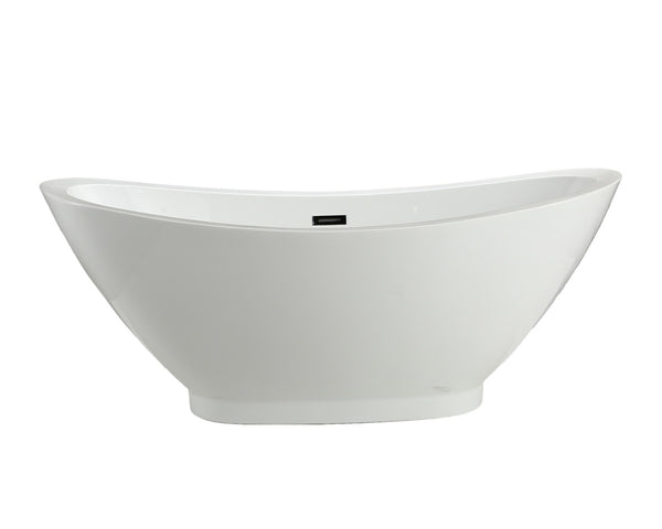 "MTD Vanities Seal 69"" Modern Freestanding Acrylic Bathtub"