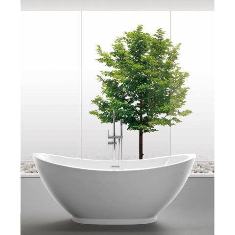 "MTD Vanities Seal 69"" Modern Freestanding Acrylic Bathtub - BathVault"