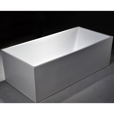 "MTD Vanities Long Beach 60"" Modern Freestanding Acrylic Bathtub - BathVault"