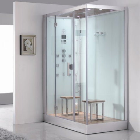 "Ariel Platinum DZ961F8 Steam Shower White 59""W x 35""D x 89""H"