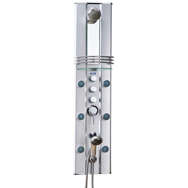 ARIEL Shower Panel System A112 - 6 Body Jets, Waterfall Shower Head - BathVault
