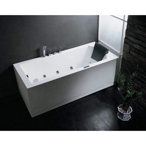 ARIEL Platinum AM154JDTSZ Whirlpool Massage Jet Bathtub - BathVault