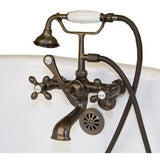 Cambridge Plumbing Clawfoot Tub Faucet - British Telephone CAM463W - BathVault