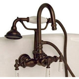 Cambridge Plumbing Clawfoot Tub Faucet - Brass Wall Mount CAM684W - BathVault