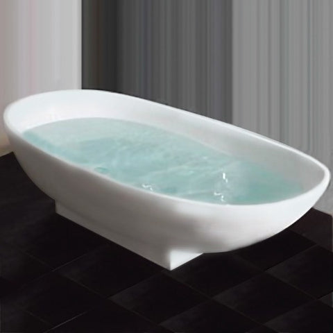 Cambridge Plumbing Cultured Marble Pedestal Tub - BathVault
