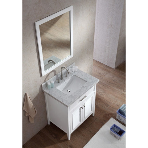 "ARIEL Kensington 31"" Single Sink Vanity Set D031S - BathVault"
