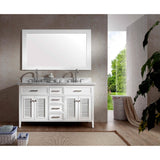 "ARIEL Kensington 61"" Double Sink Vanity Set D061D - BathVault"