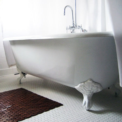 "Cambridge Plumbing Cast Iron Double Ended Clawfoot Tub 60"" X 30"" - BathVault"