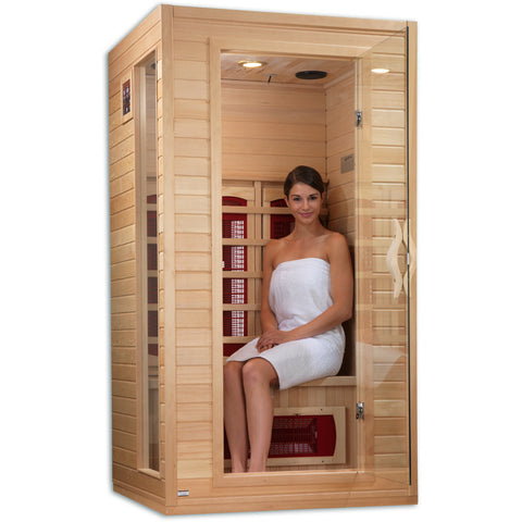 Golden Designs 1-2 Person Infrared Sauna Dynamic Cindy Edition DYN-9101-01 - BathVault