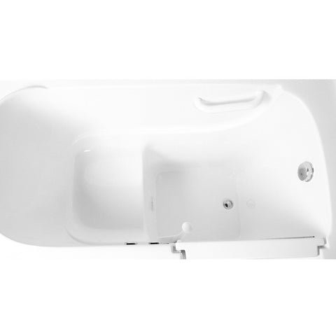 "ARIEL Walk-In Soaking Bathtub , 52"" x 30"" x 39"" EZWT-3052-SOAKER - BathVault"