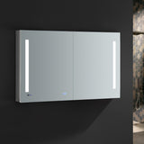 "Fresca Tiempo 48"" Wide x 30"" Tall Bathroom Medicine Cabinet w/ LED Lighting & Defogger - BathVault"