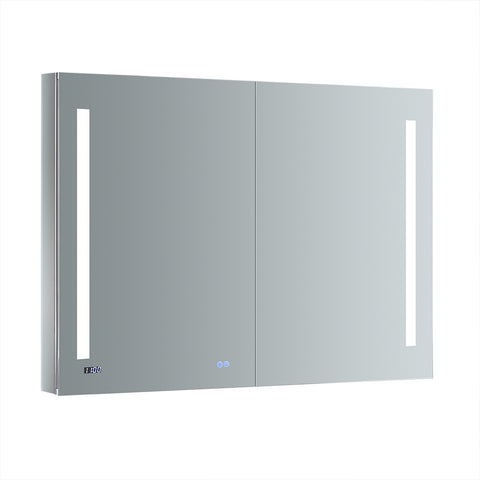 "Fresca Tiempo 48"" Wide x 36"" Tall Bathroom Medicine Cabinet w/ LED Lighting & Defogger - BathVault"