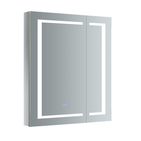 "Fresca Spazio 30"" Wide x 36"" Tall Bathroom Medicine Cabinet w/ LED Lighting & Defogger - BathVault"