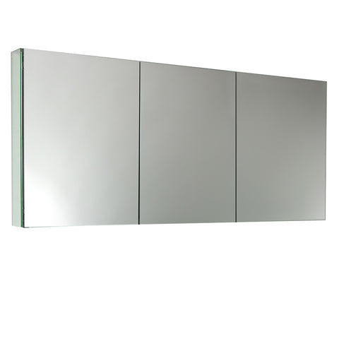 "Fresca 60"" Wide x 26"" Tall Bathroom Medicine Cabinet w/ Mirrors - BathVault"