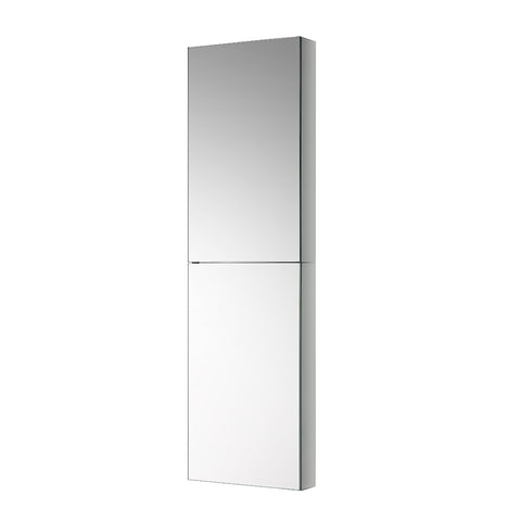"Fresca 15"" Wide x 52"" Tall Bathroom Medicine Cabinet w/ Mirrors - BathVault"