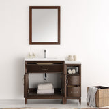 "Fresca Cambridge 42"" Antique Coffee Traditional Bathroom Vanity w/ Mirror - BathVault"