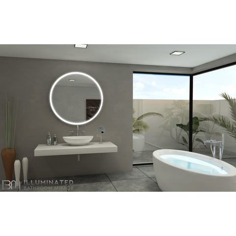 IBMirror Illuminated Vanity Mirror - Paris Galaxy Round - BathVault
