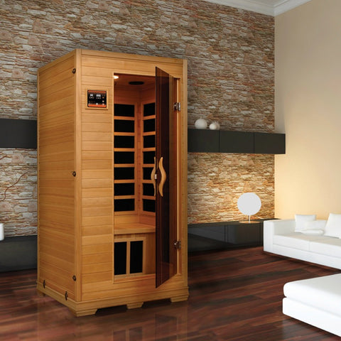Golden Designs 1-2 Person Low EMF Far Infrared Sauna GDI-6109-01 - BathVault