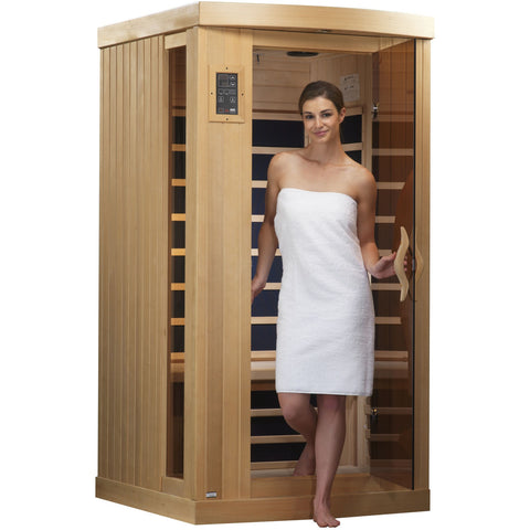 Golden Designs 1-2 Person Near Zero EMF Far IR Sauna GDI-6154-01 - BathVault