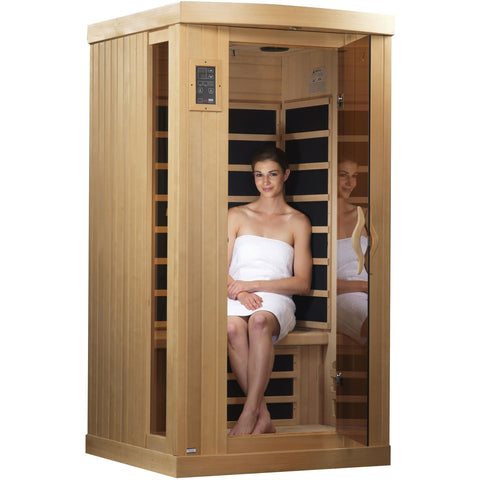 Golden Designs 1-2 Person Near Zero EMF Far IR Sauna GDI-6154-01
