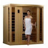 Golden Designs 4 Person Near Zero EMF Far IR Sauna GDI-6454-01 - BathVault