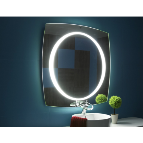 IB Mirror Illuminated Vanity Mirror - Paris Halo Square - BathVault