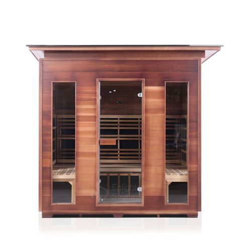 Enlighten RUSTIC - 5 Slope Full Spectrum Infrared Sauna - BathVault