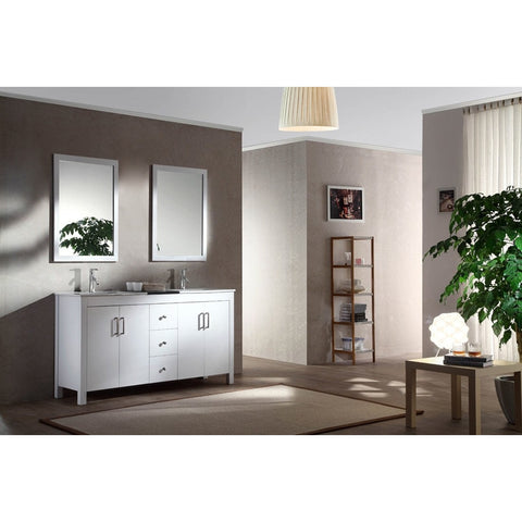 "ARIEL Hanson 60"" Double Sink Vanity Set K060D - BathVault"