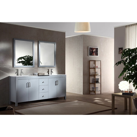 "ARIEL Hanson 72"" Double Sink Vanity Set K072D - BathVault"