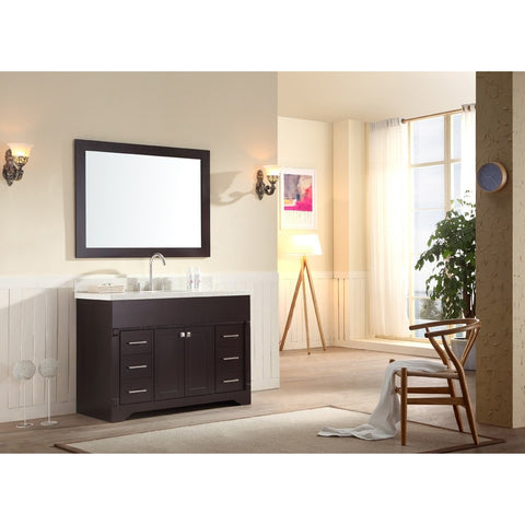 "ARIEL Stafford 49"" Single Sink Vanity Set Espresso M049S-ESP - BathVault"