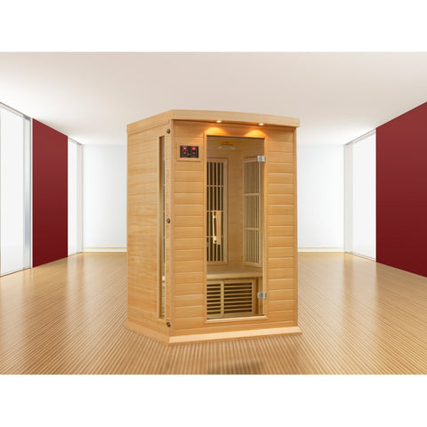 Golden Designs 2 Person Hemlock Maxxus LEMF FAR Infrared Sauna MX-K206-01 - BathVault