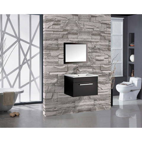 "MTD Vanities Floating Vanity Set - Nepal 24"" Wall Mounted MTD6003 - BathVault"