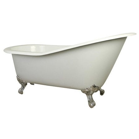 "Kingston Brass Slipper Aqua Eden 61"" Freestanding/Clawfoot Tub - BathVault"