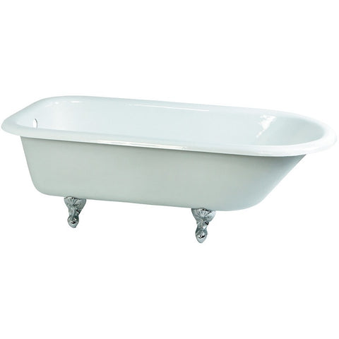 "Kingston Brass Roll Top Aqua Eden 66"" Freestanding/Clawfoot Tub - BathVault"
