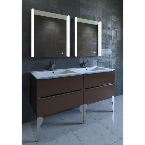 "Nezza Ella 21"" Contemporary Illuminated LED Bathroom Medicine Cabinet Mirror NLM-009-021 - BathVault"