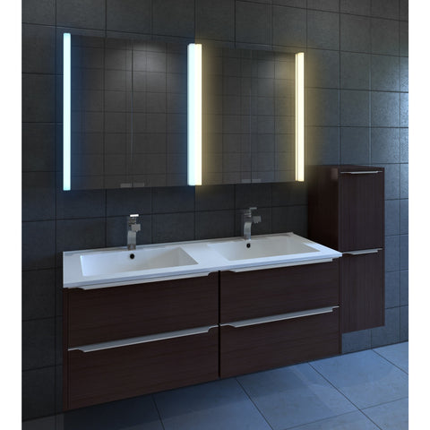 "Nezza Diva 25"" Contemporary Illuminated LED Bathroom Medicine Cabinet Mirror NLM-011-025 - BathVault"