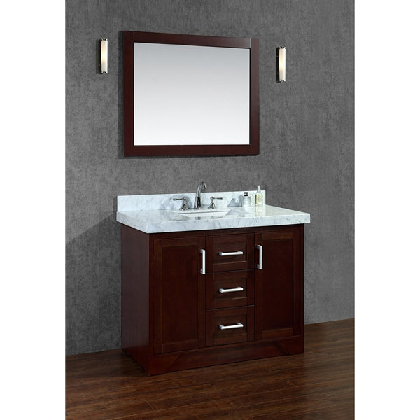 "Seacliff by ARIEL Ashbury 42"" Single Sink Vanity Walnut SC-ASH-42-TWA - BathVault"