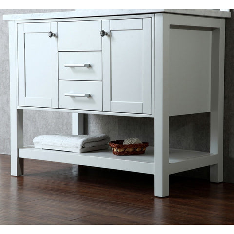 "Seacliff by ARIEL Bayhill 42"" Single Sink Vanity Set in Cloud Grey SC-BAY-42-SCG - BathVault"