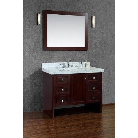 "Seacliff by ARIEL Beckonridge 42"" Single Sink Vanity Set in Walnut SC-BEC-42-SWA - BathVault"