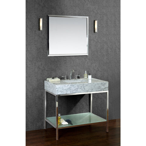 "Seacliff by ARIEL Brightwater 36"" Single Sink Vanity Set SC-BRI-36-PSS - BathVault"