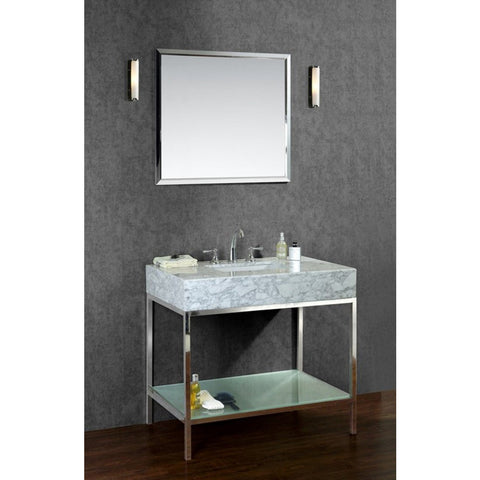 "Seacliff by ARIEL Brightwater 48"" Single Sink Vanity Set SC-BRI-48-PSS - BathVault"