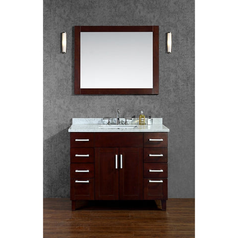 "Seacliff by ARIEL Frampton 42"" Single Sink Vanity Set Walnut SC-FRA-42-TWA - BathVault"