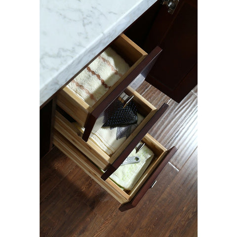 "Seacliff by ARIEL Greenbrier 36"" Single Sink Vanity Set in Walnut SC-GRE-36-SWA - BathVault"
