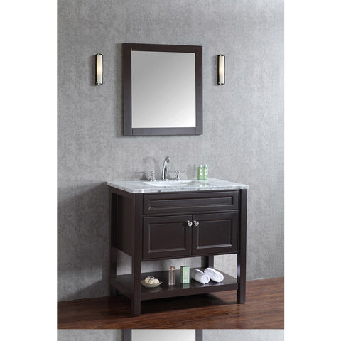 "Seacliff by ARIEL Mayfield 36"" Single Sink Vanity Set in Espresso SC-MAY-36-SES - BathVault"